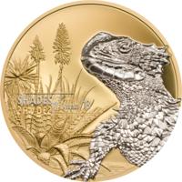 """Острова Кука 5 долларов 2018г. """"Оттенки природы: Ящерица"""". Монета в капсуле; подарочном футляре; сертификат; коробка. СЕРЕБРО 25гр."""