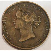 10. Канада, Новая Шкотия пол пенса (токен) 1856 год