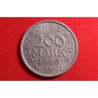 200 марок 1923 G. Германия (Веймарская республика-марка).