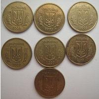 Украина 10 копеек 2002, 2003, 2005, 2007, 2009, 2011, 2014 гг. Цена за 1 шт.