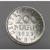 Германия 200 марок 1923 год. - G -