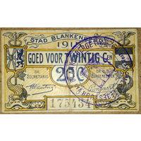 Бланкенберге 20 сентимов 1915г