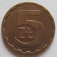 Польша, 5 злотых 1986 г