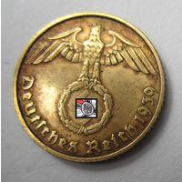 Третий рейх. 5 рейхспфеннигов 1939 B.   2-141