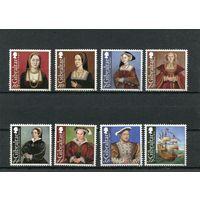 Гибралтар. 500 лет вступления на трон Генриха VIII (с женами короля)