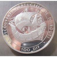 Джибути. 100 франков 1996. Серебро (418)