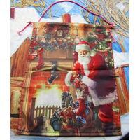 Вымпел новогодний Дед Мороз  31х43см