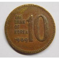 Южная Корея 10 вон 1969 г