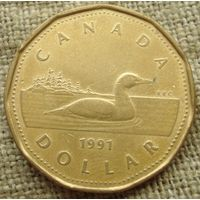 1 доллар 1991 Канада