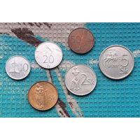 Набор монет Словакия 10, 20, 50 геллер; 1, 2, 5 крон