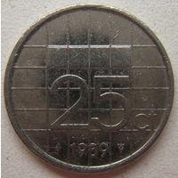 Нидерланды 25 центов 1989 г.
