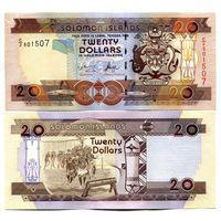 Соломоновы острова 20 долларов образца 2006 года UNC p28(1)