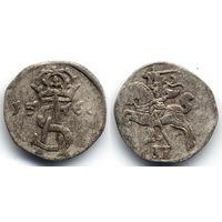 Двуденар 1566, Жигимонт Август, Вильно