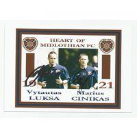 Vytautas Luksa/Maruis Cinikas(Heart, Шотландия). Живой двойной автограф на фотографии.