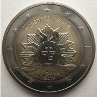 Латвия 2 евро 2019 г. Восходящие солнце