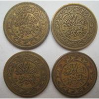 Тунис 100 миллим 1960, 1983, 1993, 1997 гг. Цена за 1 шт. (g)
