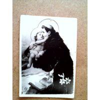 Иконка католическая Святой Антоний с младенцем Иисусом