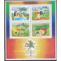 1991 Niuafo'ou 200-03 / B13 ОБРАЗЦЫ 20,00евро