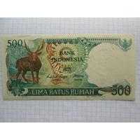 Банкнота Индонезия 500 рупий 1988 аUNC  олень