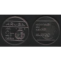 Аруба _km6 2 1/2 флорина 1991 год (ba) (coin) (b06)