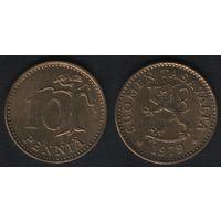 Финляндия km46 10 пенни 1979 год (K) (f31)*