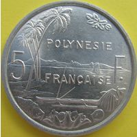 1к Французкая Полинезия 5 франков 1965 В ХОЛДЕРЕ распродажа коллекции