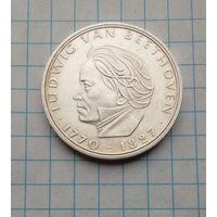 ФРГ 5 марок 1970г Бетховен Серебро 0,625