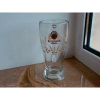 Бокал пивной Kapuziner Weissbier стекло Fidenza Италия 0.5 л., высота 19.5 см.