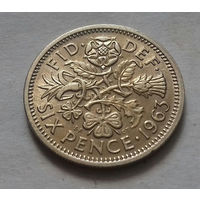6 пенсов, Великобритания 1963 г.