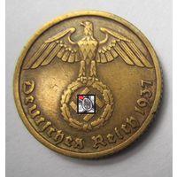 Третий рейх. 10 рейхспфеннигов 1937 A.   2-142
