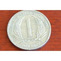 Карибские острова 1 цент 2004
