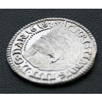 1 марка 1618, Дания, Кристиан IV. Остатки штемпельного блеска. Красивое коллекционное состояние