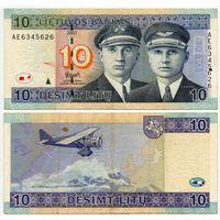 Литва. 10 лит (образца 2007 года, P68) [серия AE]