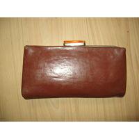 Женская сумочка 1950 года (рыжая кожа)