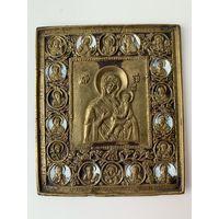 Икона Богородица Смоленская. эмали