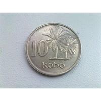 Нигерия 10 кобо 1989