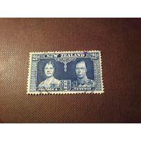 Новая Зеландия 1937 г.Королевская чета.