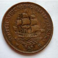 ЮАР 1/2 пенни, 1942 1-8-28