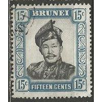 Бруней. Султан Омар Али Сайфуддин. 1952г. Mi#86.