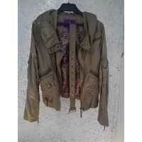 Куртка оливкого цвета 42-44 размера