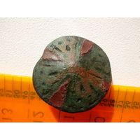 Очень древняя интересная пуговица эмалирована