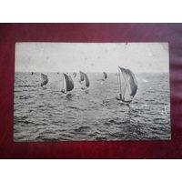 Выход катамаранов в море, Цейлон (Шри-Ланка). почтовя карточка начала 20-го века