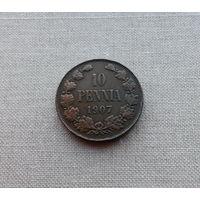 Финляндия в Российской империи, 10 пенни 1907 г.