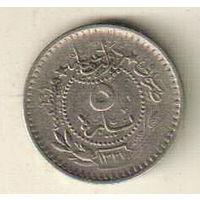 Турция 5 пара 1909 2