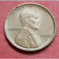 США 1 цент 1909. Без отметок МД. Состояние