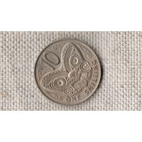 Новая Зеландия 1 шиллинг 10 центов 1967 /фауна/бабочка/молодая королева /(Ji)