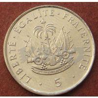 6017:  5 сантимов 1995 Гаити