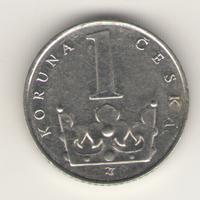 1 крона 1983, 1984 г. Чехия.