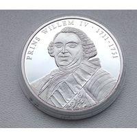 Принц Виллем 4 1711-1741, Тираж-5555шт, Посеребрение, Документ 2001 7-15-3