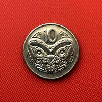 59-01 Новая Зеландия, 10 центов 1987 г. Единственное предложение монеты данного года на АУ
